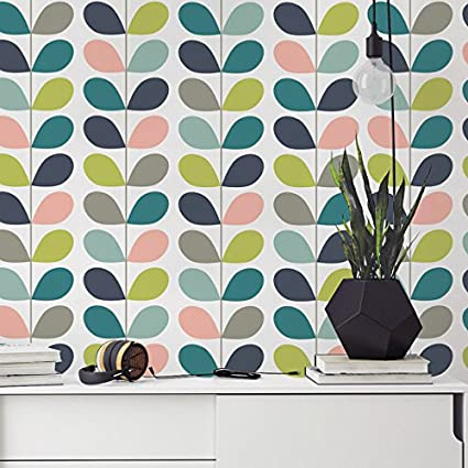 Wallpaper Wall Murals 51 18 X 108 26 Inches Mid Century Leaves Diy Wallpaper Mid Century Modern Leaves Removable Wallpaper Self Adhesive