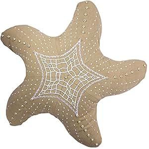 Rightside Design Outdoor Starfish Heather Pillow, Beige