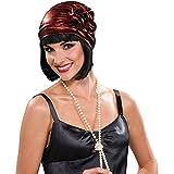 Metallic Red Flapper Cloche Hat