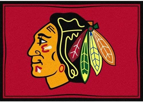 Milliken Chicago Blackhawks NHL Team Spirit Area Rug, 7 8 by 10 9