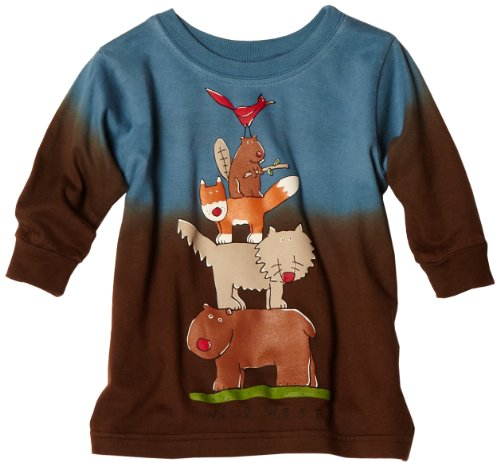 UPC 632939433682, Mulberribush Baby Boys' Wild West Stack Dip Dye Shirt, Blue/Brown, 12 Months