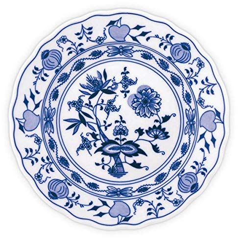 - CZECH BOHEMIAN DESIGN DECORATIVE BLUE ONION PORCELAIN PLATE PERFECT CHRISTMAS OR WEDDING GIFT TRADITIONALLY HAND-MADE EUROPEAN DESIGN (9.5