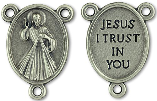 LOT of 5 - Divine Mercy / Jesus I Trust In You Center Piece. Italian-made, 3/4