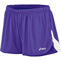 ASICS Women's Break Through 1/2 Split Short, Purple/White, X-Large