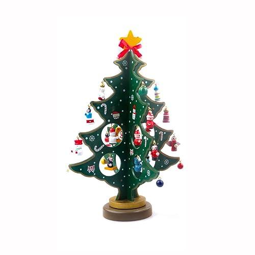 JINGXU® Mini Arbre de Noël en Bois Arbre Décoration de Noël Vitrine ou Table Décoration (vert)