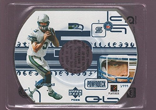 BROCK HUARD SEAHAWKS POWER DECK DIE CUT CD 1999 UPPER DECK UD POWERDECK CD-ROM
