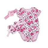 NPK A Set Doll Clothes for 20-22 inch Doll Baby Girl Clothing Matching Dairy Cow (b)