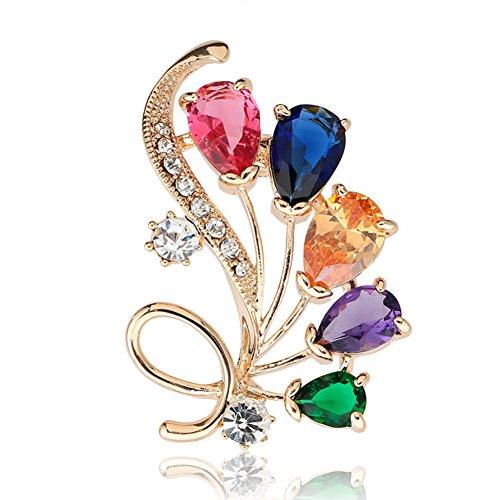 Diamond & Emerald Brooch - 7