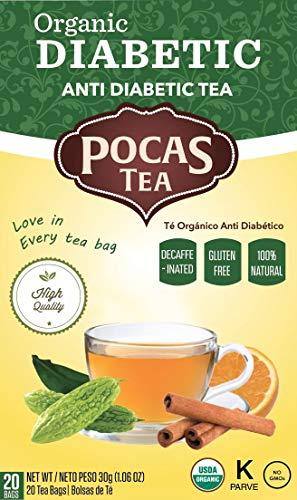 Pocas Organic Tea, Diabetic, 1.06 Ounce, 20 Count (Pack of 6) ()