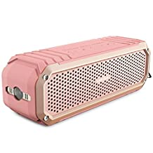 COMISO 10W Wireless Bluetooth Shower Speaker with Microphone and Flashlight (Rose Gold)