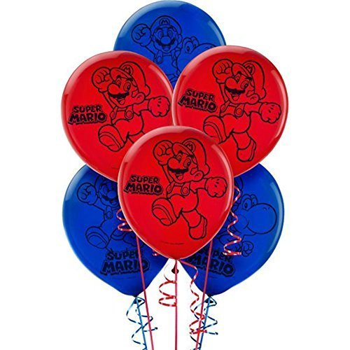 Super Mario Latex Balloons (6ct) -
