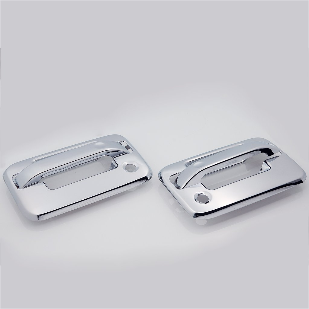 EAG 04-14 Ford F-150 2 Door Handle Cover with Passenger Keyhole Triple Chrome Plated