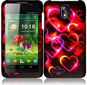 ZTE Engage LT N8000 ( Cricket ) Phone Case Accessory Spectacular Hearts Hard Snap On Cover with Free Gift Aplus Pouch