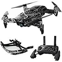 MightySkins Skin for DJI Mavic Air Drone - Black Flourish | Max Combo Protective, Durable, and Unique Vinyl Decal wrap cover | Easy To Apply, Remove, and Change Styles | Made in the USA