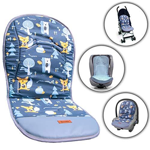 Gadbey - Funda universal para silla de paseo de verano fabricada en la UE con reposapies, reversible y unisex, de algodon de nido de abeja, antisudor