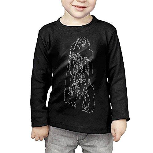 Hanging Ghoul Halloween Kids Children Unisex Long Sleeve Cotton Crew Neck T-Shirt -
