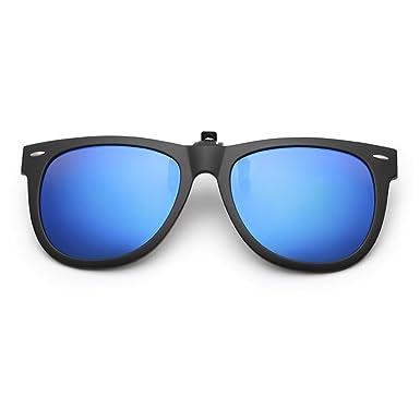 660008d34abf Dooppa Latest Design Unisex Clip-on Flip-up Polarized Sunglasses - Various  Colors (Blue)  Amazon.co.uk  Clothing
