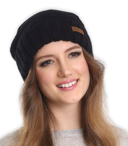 Brook + Bay Women's Slouchy Cable Knit Cuff Beanie - Chunky, Oversized Slouch Beanie Hats for Winter - Stay Warm & Stylish - Serious Beanies for Serious Style (with 10+ Colors)