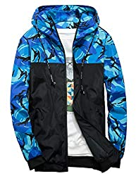 Men's Windbreaker Floral Bomber Jacket