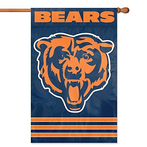 Party Animal Chicago Bears Banner NFL (Chicago Bears Applique Banner Flag)