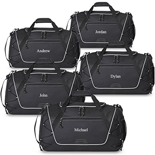Personalized Sports Duffel Bag - Gym, Fitness, Workout, Travel, Camping Bags for Men -