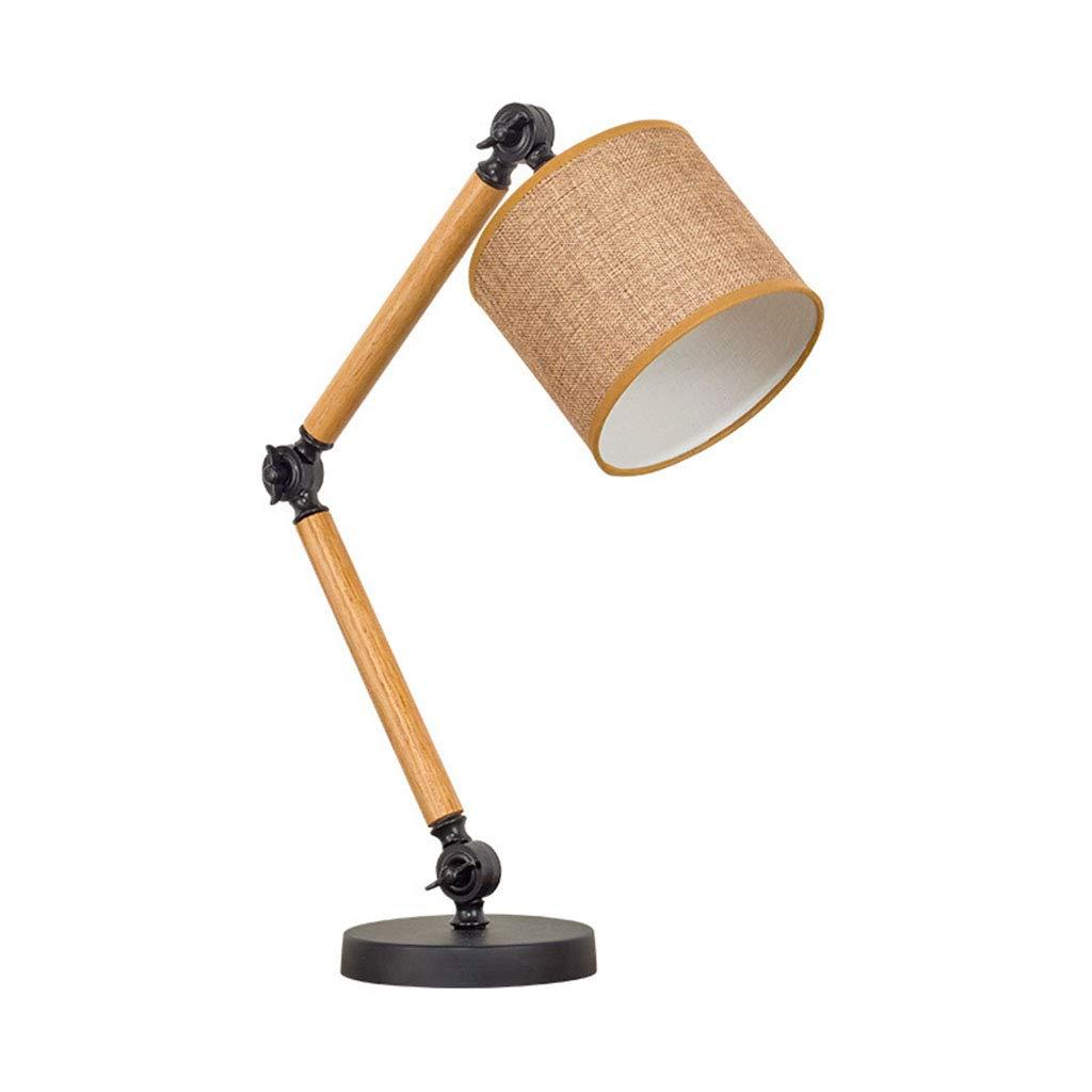 HN Lighting Tischlampe, Einfache Massivholz Moderne Kreative Mode Tischlampe Studie Schlafzimmer Dekoration Dimmable Kinderlampen, Tischlampe