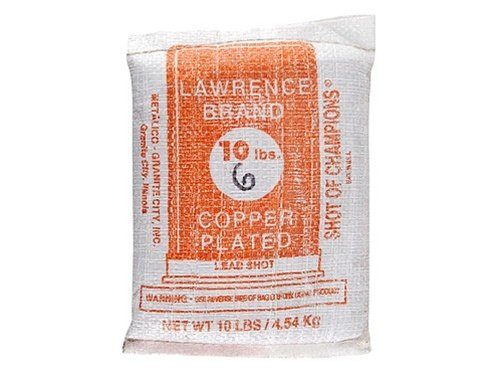 Lawrence Copper Plated Lead Shot #6 10 Pound Bag by Lawrence