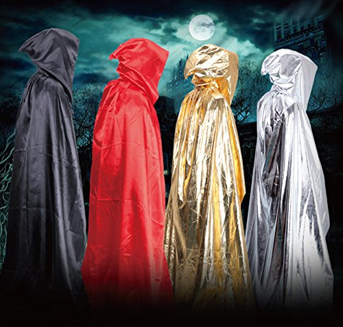 ac634b3882 Amazon.com  vimans Christmas Shawl Robes Adult Hooded Halloween Black Cape  Cloaks ith Hood  Clothing