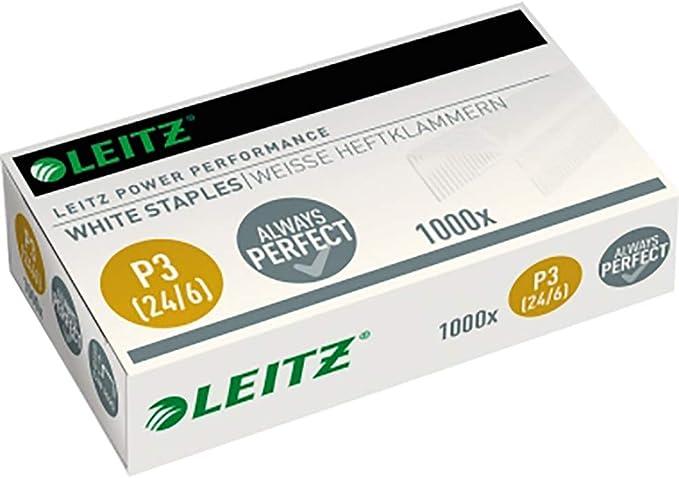 Grapas P3 24 6 1000 unidades Leitz 55540000 color blanco