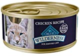 Blue Buffalo Wilderness High Protein Grain Free, Natural Mature Pate Wet Cat Food, Chicken 5.5-oz (pack of 24)
