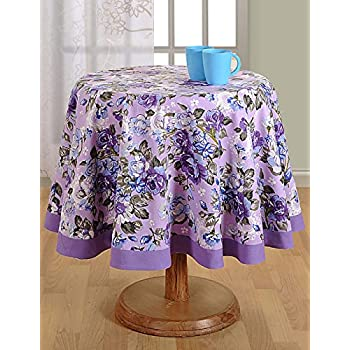 Amazon Com Shalinindia Round Floral Tablecloth 60