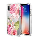 Casetify Floral Flower Impact iPhone Xs Case with Slim Cover for Girls (Summer 2017 Print Design) with Drop Proof Military Grade Protection and Dual-Layered Shockproof Bumper for Apple iPhone Xs X