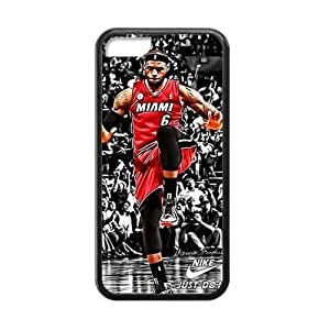 CTSLR Laser Technology NBA Player LeBron James TPU Case Cover Skin for Cheap Apple iphone 6 4.7 inch-1 Pack- Black - 2