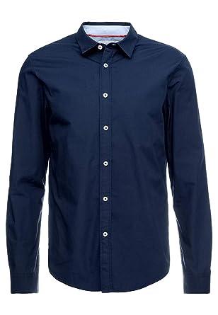 Pier One Camisa de Vestir para Hombres - Camisa Slim Fit, Manga ...