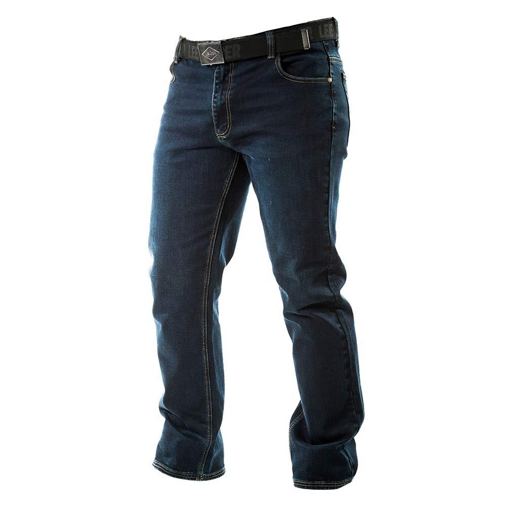 Jeans Denim Lee Cooper Belted Mens Trouser Bottoms Pants