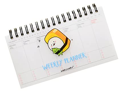 BleuMoo Kawaii Panda Beautiful PVC Diary Planner Weekly Day Time Plan Organizing School Supplies Notebook Diary Notebook Spiral Agenda