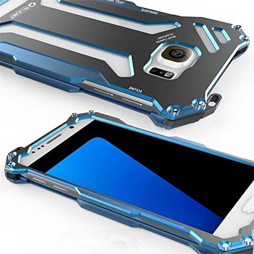 Metal Case for Samsung Galaxy S7 Edge(2016),Gundam R-JUST Aluminum Metal Shock Proof Frame Bumper Double Color Oxidation Aluminum Metal Case Cover for Sales
