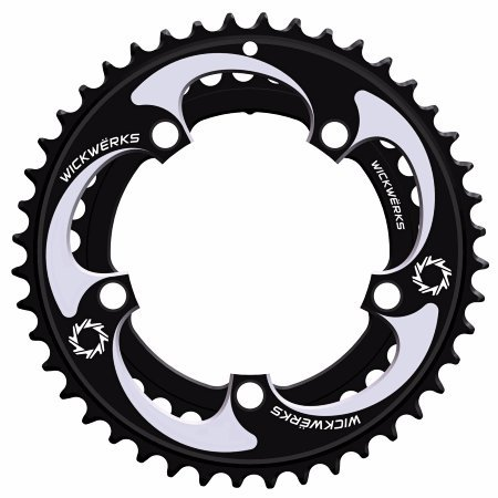 WickWerks 44/34t 110 BCD Cyclocross Chainrings by WickWerks