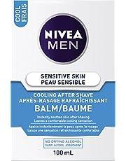 NIVEA Men Sensitive Skin Cooling After Shave Balm (100mL), Aftershave for Sensitive Skin, No Drying Alcohol, Instantly Soothes & Cools Down Skin After Shaving