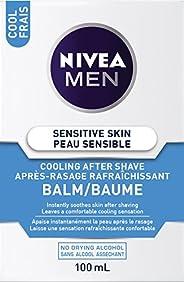 NIVEA Men Sensitive Skin Cooling After Shave Balm (100mL), Aftershave for Sensitive Skin, No Drying Alcohol, I