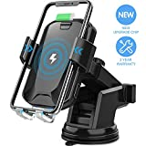 Wireless Car Charger, CHGeek 10W Qi Fast Charging Auto Clamping Car...