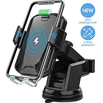 AMYBT Wireless Car Charger Mount 10W//7.5W Qi Fast Charging Auto-Clamping Car Mount Samsung S10//S10+//S9 Windshield Dashboard Air Vent Phone Holder Compatible with iPhone Xs MAX//XS//XR//X//8