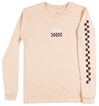 b8ed73ed4bdee9 Image Unavailable. Image not available for. Color: Vans Off The Wall OTW Checker  Long Sleeve Shirt Womens Skateboard TOP Rose