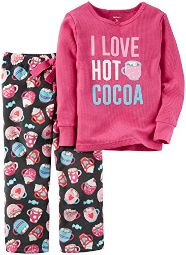 Carter's Baby Girls' 2 Pc Fleece 337g151, Hot Cocoa Pink, 24M