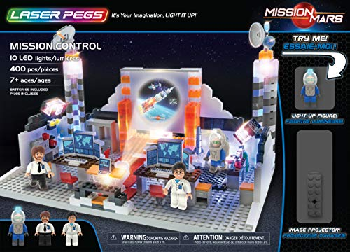 Laser Pegs Mission Control Light Up Building Kit (400Piece) (Light Up Building Construction Set Laser Pegs)