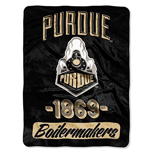 Officially Licensed NCAA Purdue Boilermakers Varsity Micro Raschel Throw Blanket, 46