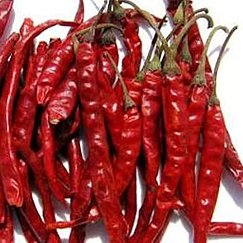 Premium 7 oz 200 g Thai Organic Sun Dried Red Hot Spices Seasonings Pepper Chili by chantubtim