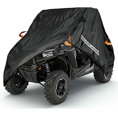 NEVERLAND UTV Cover, Waterproof Heavy 300D Oxford Material for Polaris RZR Yamaha Rhino Can-Am Defender Honda Pioneer Kawasaki Mule Teryx 2-3 Passenger (Rhino Yamaha Utv)