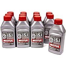 Motul 100951-12 DOT 5.1 Non-Silicone Brake Fluid, (Case of 12)