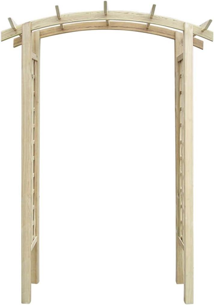 Tidyard Pérgola Arco de Madera para Jardín Exterior de Madera de Pino Impregnada Verde150 x 50 x 220 cm: Amazon.es: Hogar